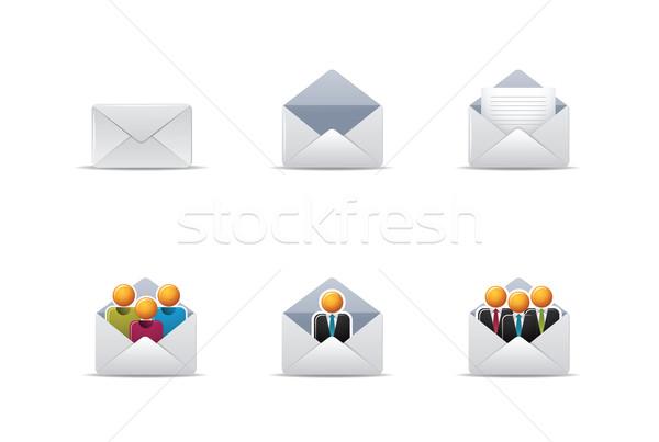 почты иконки иллюстрация веб Сток-фото © qiun