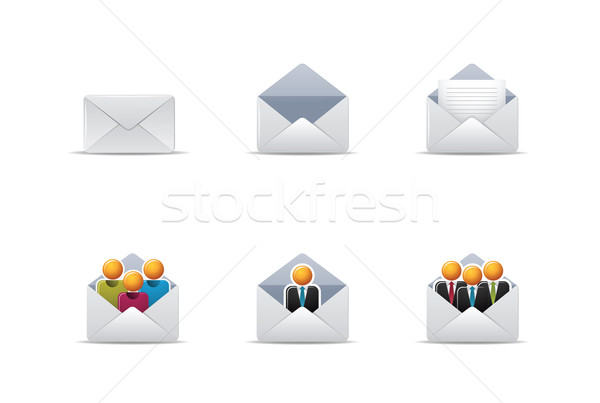 Qicon | Mail icons 2 Stock photo © qiun