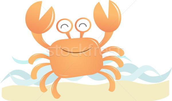 улыбаясь краба счастливым морем смешные Cartoon Сток-фото © qiun