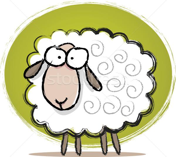Cute овец эскиз иллюстрация Сток-фото © qiun