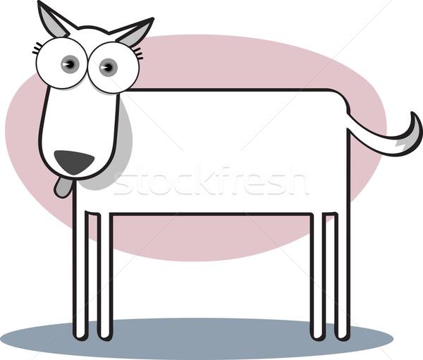 Cartoon собака черно белые большой глаза Сток-фото © qiun
