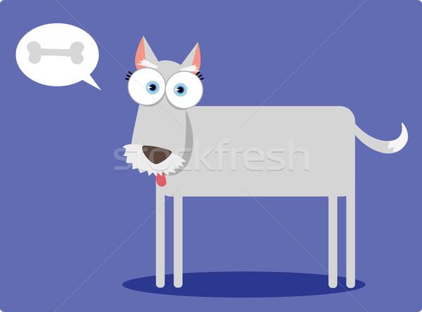 広場 犬 漫画 ビッグ 眼 ボディ ストックフォト © qiun