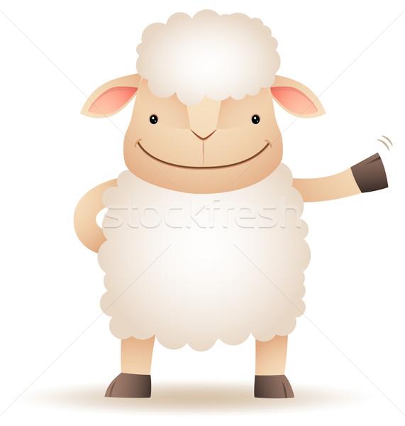 Pecore sorriso mano illustrazione Foto d'archivio © qiun