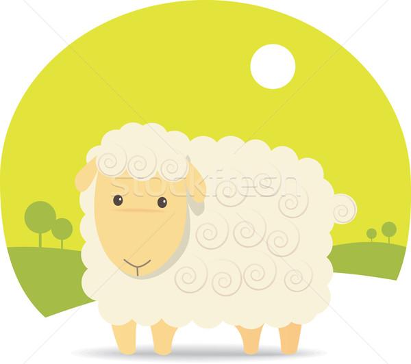 Cute Sheep Stock photo © qiun