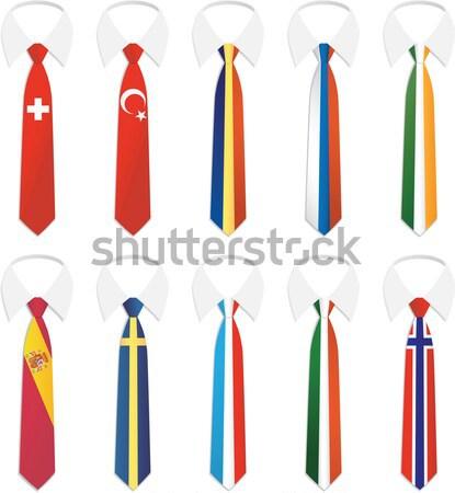 гражданство галстук Швейцария Турция Сток-фото © qiun