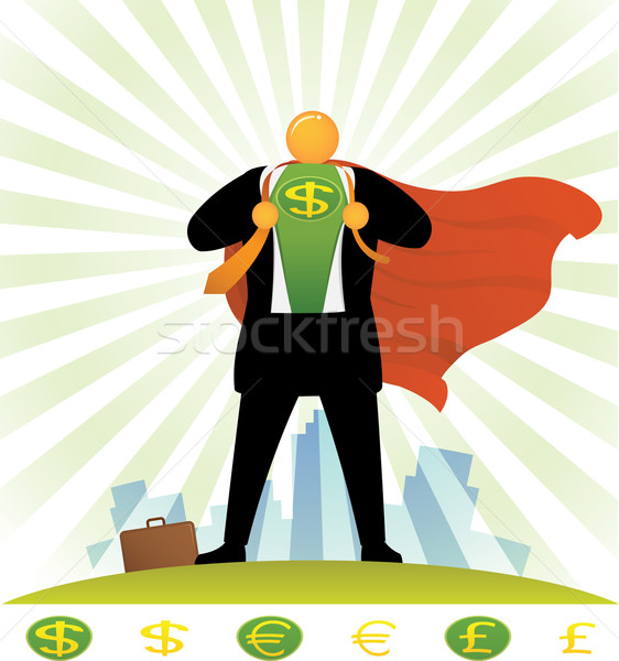 Orange Head_Currency Super Hero Stock photo © qiun