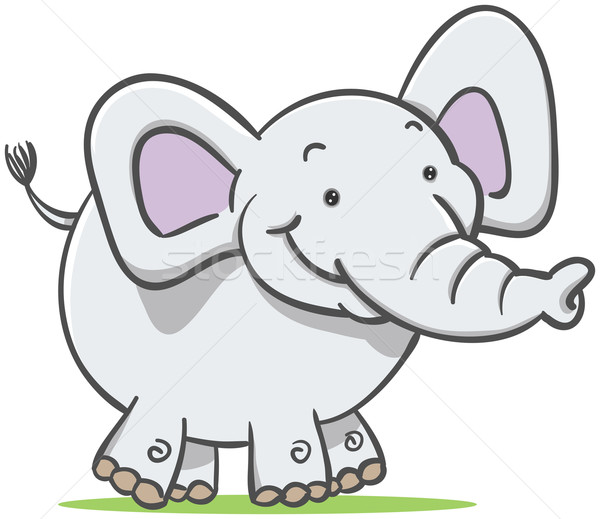 Walking Elephant Stock photo © qiun