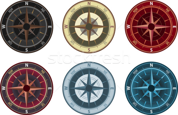компас иллюстрация цвета изменение путешествия круга Сток-фото © qiun