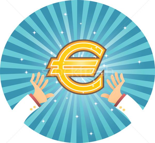 стороны евро иллюстрация два деньги Финансы Сток-фото © qiun