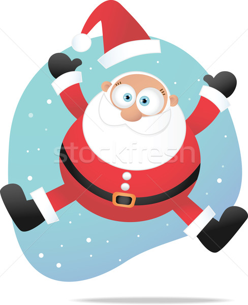 Jumping santa Stock photo © qiun
