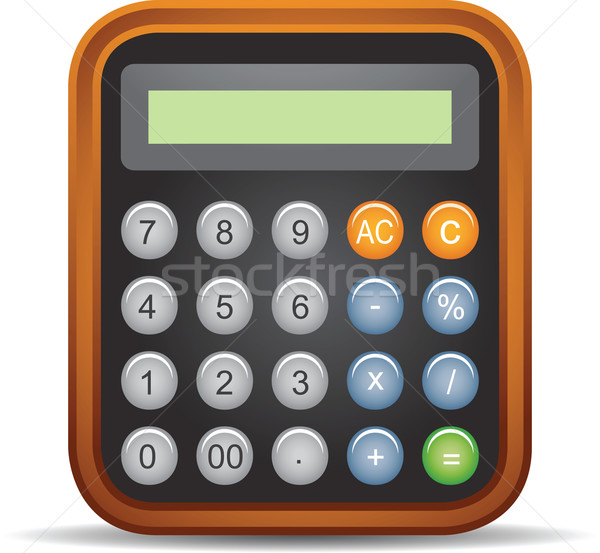 Calculator illustratie kantoor Stockfoto © qiun