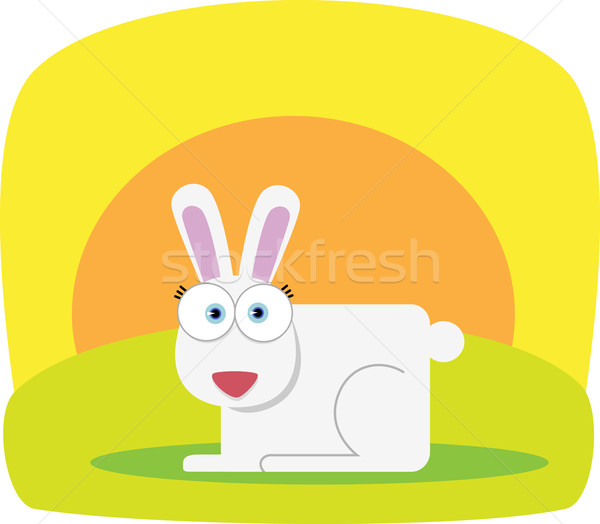 Rabbit with big eye Stock photo © qiun