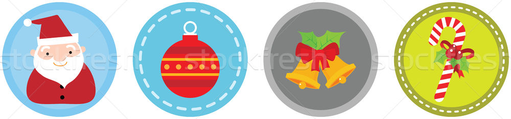 Flat 4 Christmas Icons vol 5 Stock photo © qiun