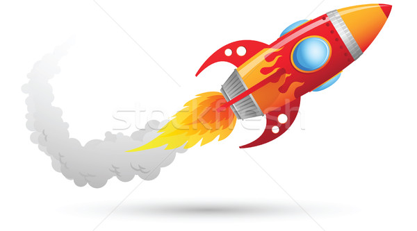 Rocket Flying Stock photo © qiun