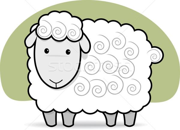Cute овец черно белые черный Сток-фото © qiun
