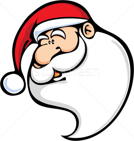 Дед Мороз лице красный белый Сток-фото © qiun