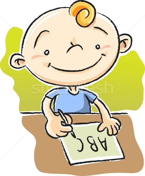 мальчика Дать иллюстрация бумаги письме Сток-фото © qiun