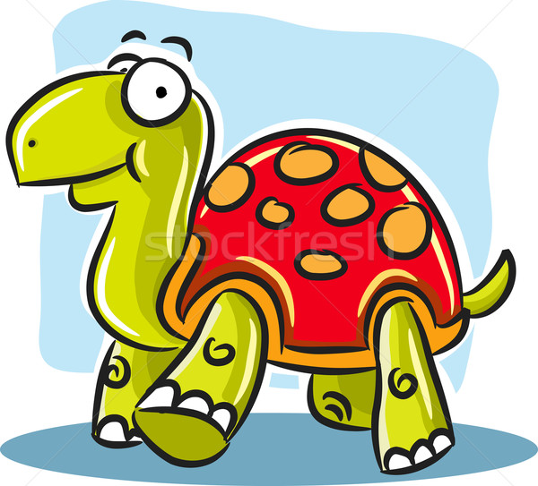 Turtle with Red Shell Stock photo © qiun