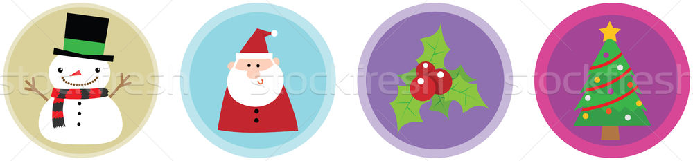 Flat 4 Christmas Icons vol 2 Stock photo © qiun