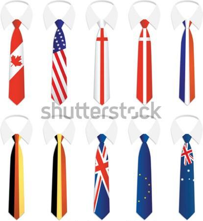 гражданство галстук Франция Дания США Сток-фото © qiun