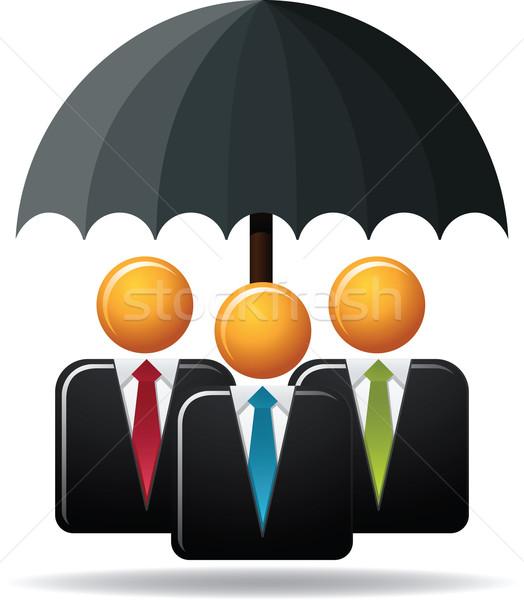 бизнеса защиту иллюстрация Финансы зонтик Сток-фото © qiun