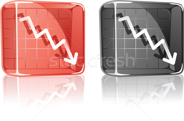 Grafiek beneden glas vak illustratie grafische Stockfoto © qiun