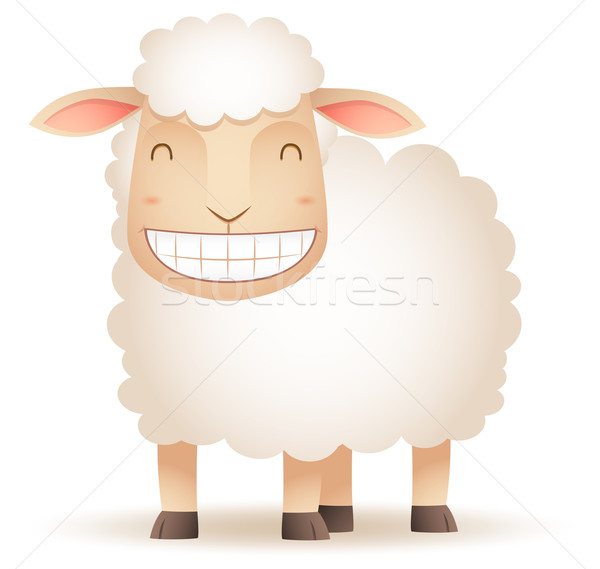 Sheep Smiling Stock photo © qiun
