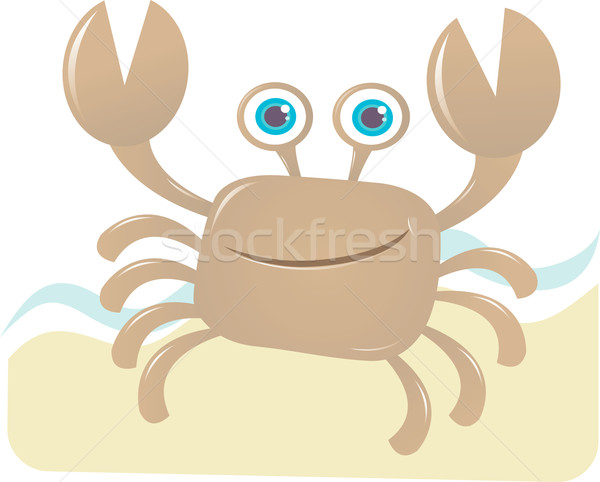 Happy Crab Stock photo © qiun