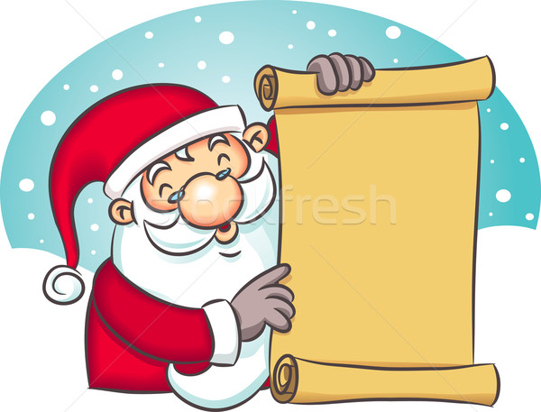 Santa Holding List Stock photo © qiun