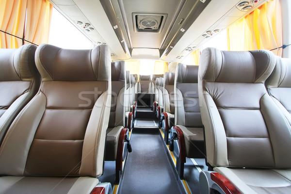 Vazio ônibus interior relaxar Foto stock © qiun