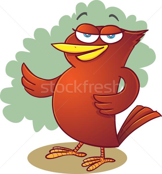 красный птица иллюстрация Постоянный положение Сток-фото © qiun