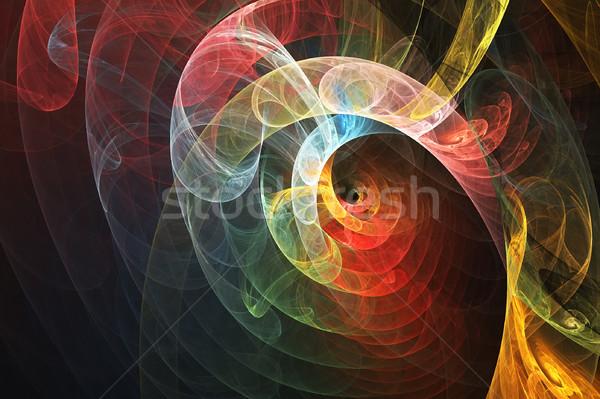 Colorato turbinio sfondo arte fumo decorazione Foto d'archivio © qiun