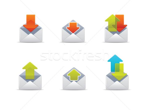 Mail iconos ilustración web carta Foto stock © qiun