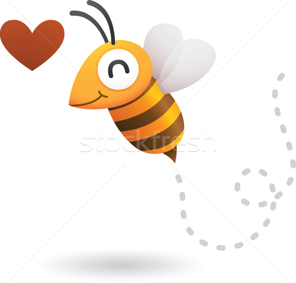 Abeille amour illustration coeur volée miel Photo stock © qiun