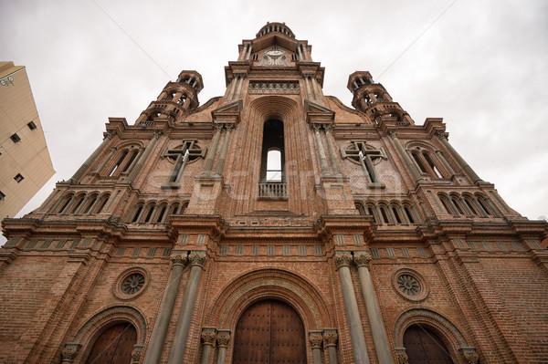 Catedral Colômbia cidade centro viajar arquitetura Foto stock © Quasarphoto
