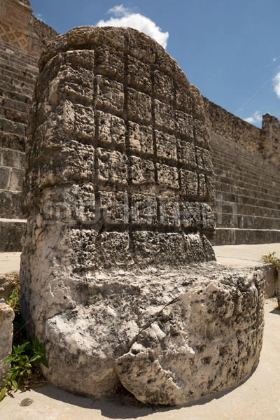 an ancient Mayan throne Stock photo © Quasarphoto