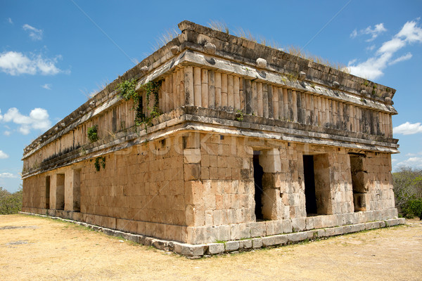 ancient Mayan stone buildng Stock photo © Quasarphoto
