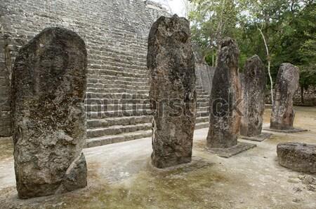 Piramit taş eski seyahat Stok fotoğraf © Quasarphoto