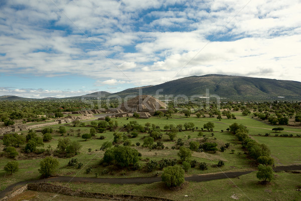 birdseye view of the Pyramid of the Moon Stock photo © Quasarphoto