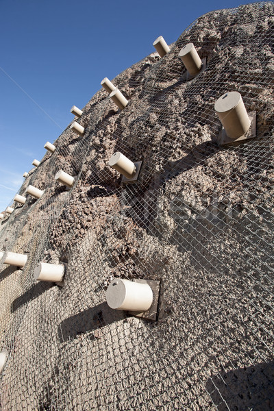 metal mesh rockfall barriers Stock photo © Quasarphoto