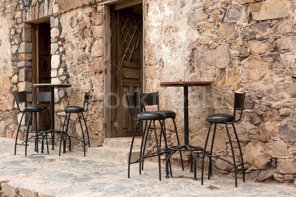 street restaurant patio Stock photo © Quasarphoto