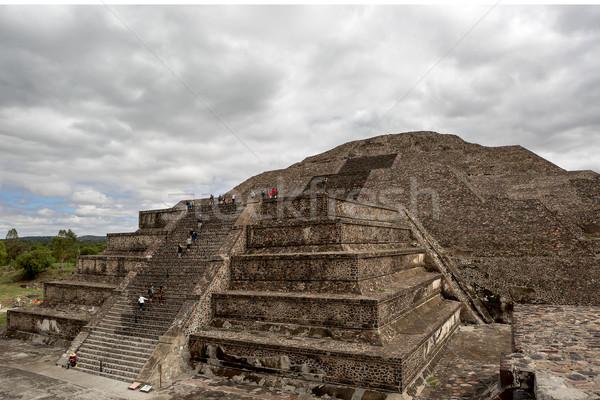 Tırmanma piramit ay merdiven eski Stok fotoğraf © Quasarphoto