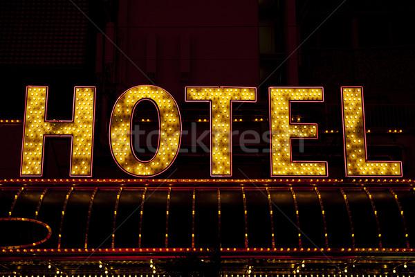 Otel imzalamak yukarı Stok fotoğraf © Quasarphoto