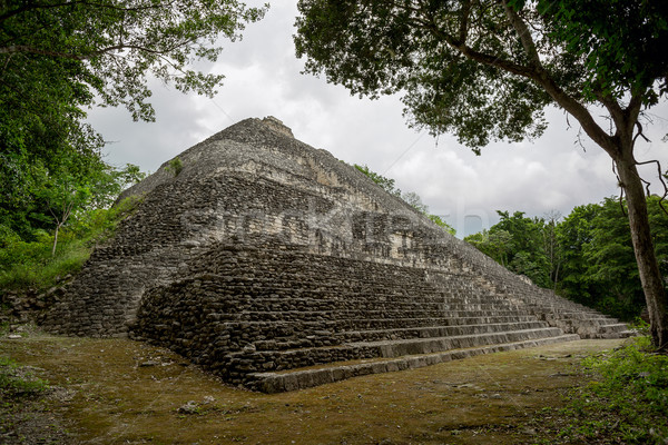pyramid surrounded by jungle Stock photo © Quasarphoto