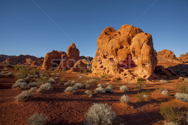 red rock formations at sunset Stock photo © Quasarphoto