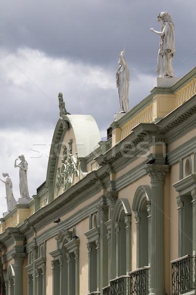 Kolonialny architektury Kolumbia architektoniczny szczegóły Zdjęcia stock © Quasarphoto