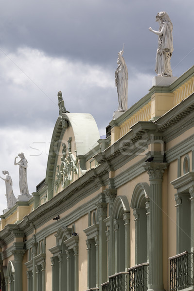 Sömürge mimari Kolombiya mimari ayrıntılar Stok fotoğraf © Quasarphoto