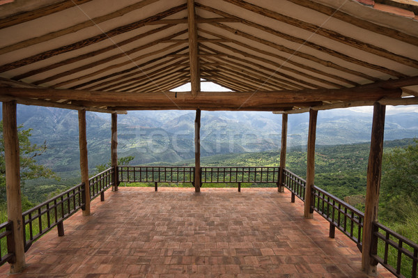 lookout platform in Barichara Colombia Stock photo © Quasarphoto