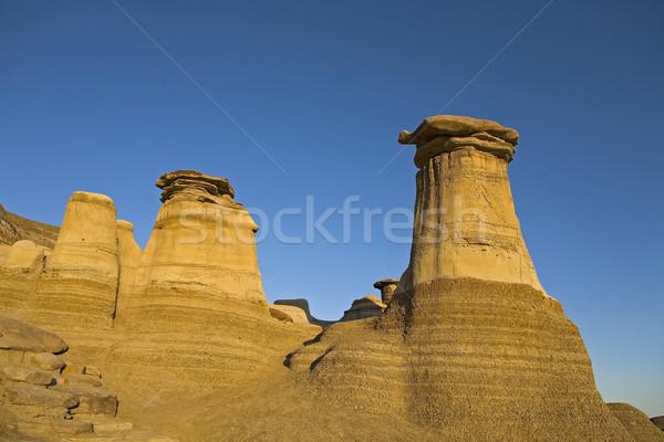 hoodoos with blue sky background Stock photo © Quasarphoto