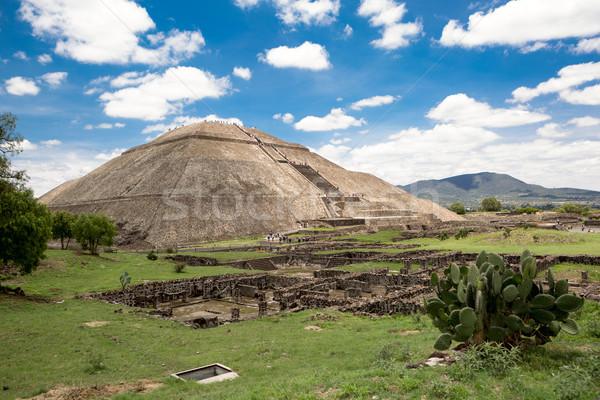 the pyramid of the Sun in Teotihuacan Stock photo © Quasarphoto